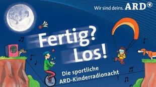 Sportliche Kinder, Seiltanz, Fallschirmspringer