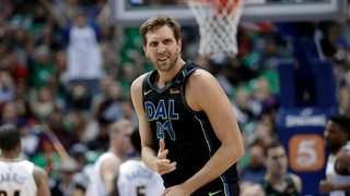 Dirk Nowitzki im Trikot der Dallas Mavericks.