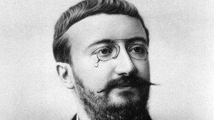 Schwarz-weiß Porträt von Alfred Binet.